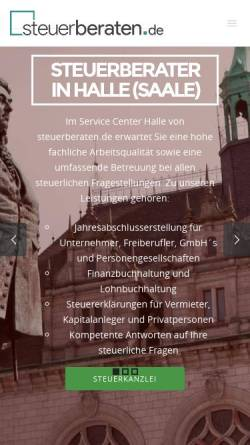 Vorschau der mobilen Webseite www.steuerberater-halle.de, Christian Gebert Steuerberater