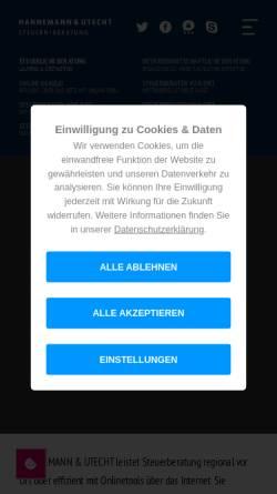 Vorschau der mobilen Webseite www.eichhorn-utecht.de, Eichhorn und Utecht Steuerberatungsgesellschaft mbH & Co. KG
