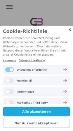 Vorschau der mobilen Webseite www.steuerberater-nf.de, Greve & Bauer Steuerberatungsgesellschaft mbH & CO. KG