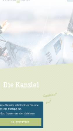 Vorschau der mobilen Webseite www.stb-petersen.de, Petersen und Partner Steuerberater GbR