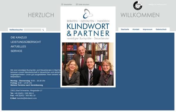 Vorschau von www.klindwort.com, Klindwort und Partner - Steuerberater