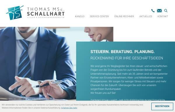 Vorschau von www.schallhart.at, Mag. Dr. Michael Schallhart