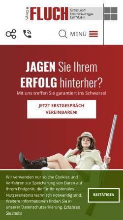Vorschau der mobilen Webseite www.fluch-steuerberatung.at, Mag. Fluch Steuerberatungs GmbH