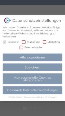 Vorschau der mobilen Webseite www.bgundp.com, Grossek Wirtschafts- und Steuerberatungsgesellschaft mbH