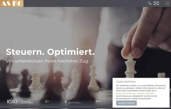 Vorschau von www.as-steuerberatung.at, AS Steuerberatungs GmbH
