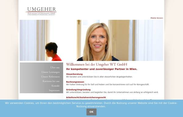 Vorschau von www.umgeher.at, WT-Kanzlei Eveline Umgeher