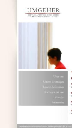 Vorschau der mobilen Webseite www.umgeher.at, WT-Kanzlei Eveline Umgeher