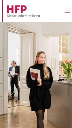Vorschau der mobilen Webseite www.hfp.at, HFP Steuerberatungs GmbH