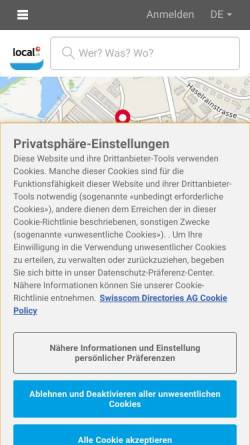 Vorschau der mobilen Webseite www.kindlimann-treuhand.ch, Kindlimann & Partner AG