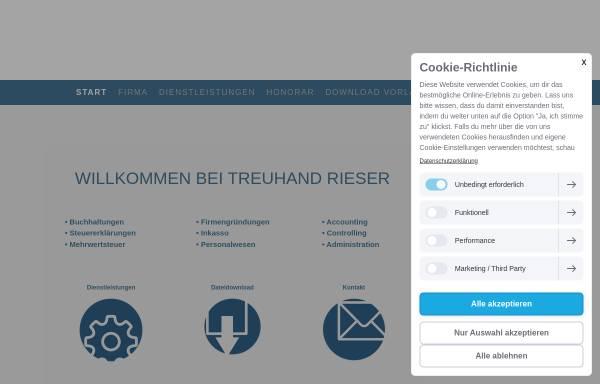 Vorschau von www.treuhand-rieser.ch, Treuhand Rieser, Inh. Konstantin Rieser
