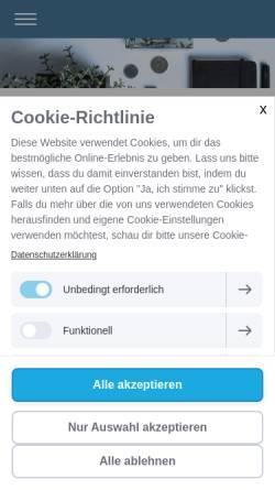 Vorschau der mobilen Webseite www.treuhand-rieser.ch, Treuhand Rieser, Inh. Konstantin Rieser