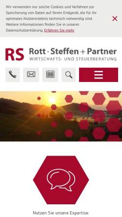 Vorschau der mobilen Webseite www.rs-partner.ch, Rott, Steffen und Partner GmbH