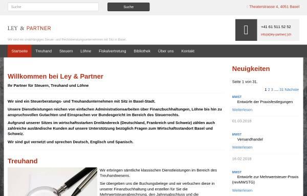 Vorschau von www.ley-partner.ch, Ley und Partner GmbH