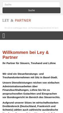 Vorschau der mobilen Webseite www.ley-partner.ch, Ley und Partner GmbH