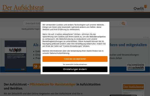 Vorschau von www.aufsichtsrat.de, Der Aufsichtsrat by Verlagsgruppe Handelsblatt GmbH