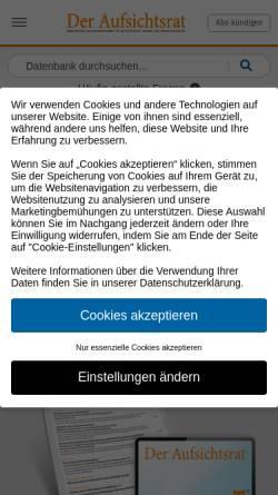 Vorschau der mobilen Webseite www.aufsichtsrat.de, Der Aufsichtsrat by Verlagsgruppe Handelsblatt GmbH