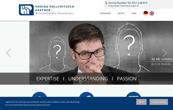 Vorschau von www.hhp-stuttgart.de, Häring Hällfritzsch Partner Wirtschaftsprüfer Steuerberater