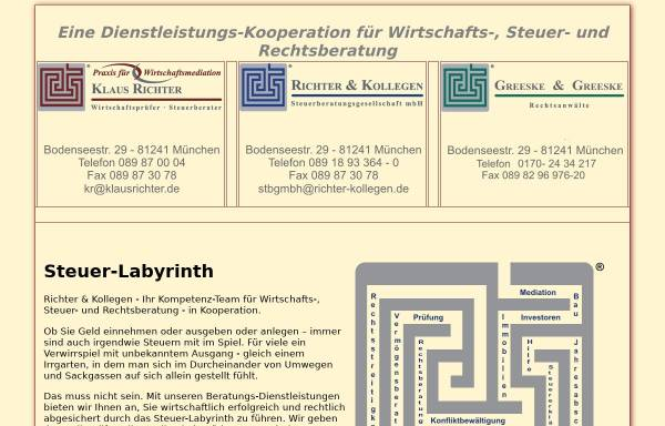 Vorschau von www.klausrichter.de, Klaus Richter - Steuerberater und Wirtschaftsprüfer