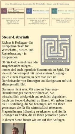 Vorschau der mobilen Webseite www.klausrichter.de, Klaus Richter - Steuerberater und Wirtschaftsprüfer
