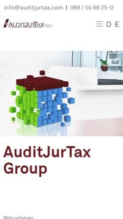 Vorschau der mobilen Webseite www.auditjurtax.de, AuditJurTax Group - Altweger Rechtsanwaltsgesellschaft mbH