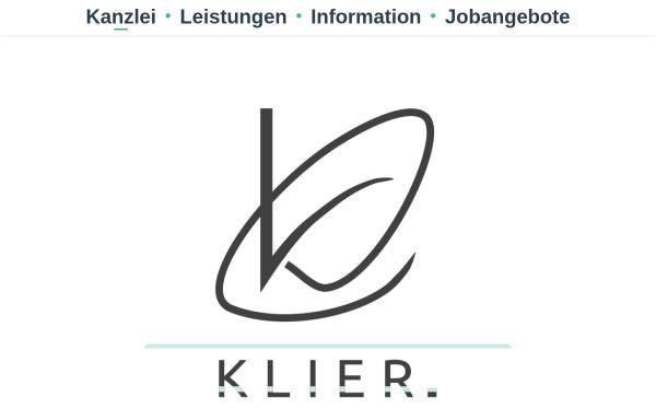Vorschau von www.erwinklier.de, Erwin Klier Steuerberater/Wirtschaftsprüfer