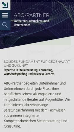 Vorschau der mobilen Webseite abg-partner.de, ABG Allgemeine Beratungs- und Treuhandgesellschaft mbH