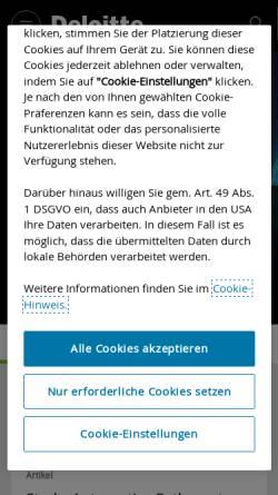 Vorschau der mobilen Webseite www2.deloitte.com, Deloitte und Touche GmbH Wirtschaftsprüfungsgesellschaft