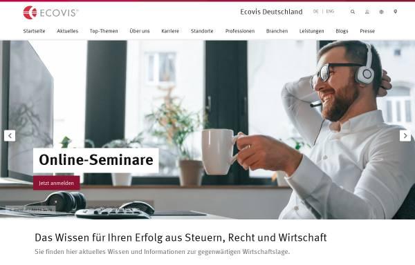 Vorschau von www.ecovis.com, Ecovis Europe AG