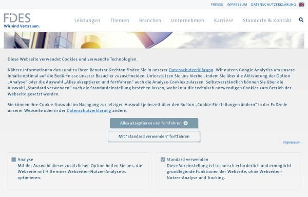 Vorschau von www.fides-treuhand.de, Fides Treuhandgesellschaft KG