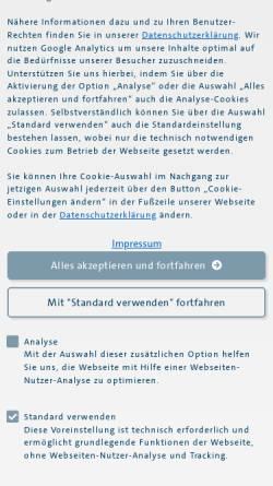 Vorschau der mobilen Webseite www.fides-treuhand.de, Fides Treuhandgesellschaft KG