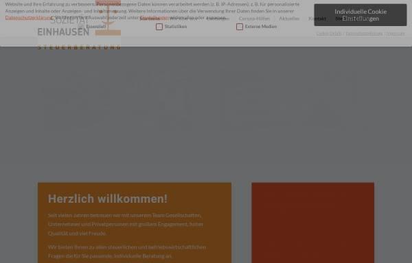 Vorschau von www.einhausen.com, Sozietät J. Einhausen