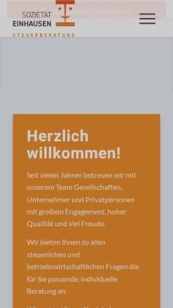 Vorschau der mobilen Webseite www.einhausen.com, Sozietät J. Einhausen