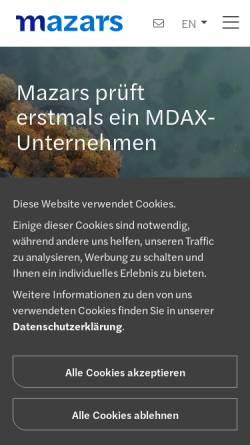 Vorschau der mobilen Webseite www.mazars.de, RBS RoeverBroennerSusat GmbH & Co. KG