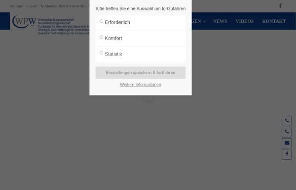 Vorschau von www.wpwitte.de, WPW GmbH Wirtschaftsprüfungsgesellschaft