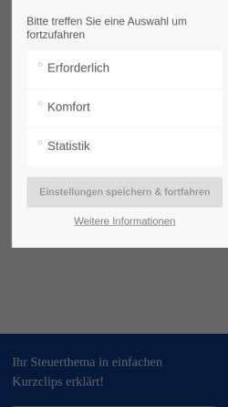 Vorschau der mobilen Webseite www.wpwitte.de, WPW GmbH Wirtschaftsprüfungsgesellschaft