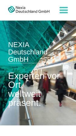 Vorschau der mobilen Webseite www.nexia.de, NEXIA Deutschland GmbH
