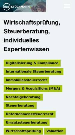 Vorschau der mobilen Webseite www.stueckmann.de, HLB Dr. Stückmann und Partner