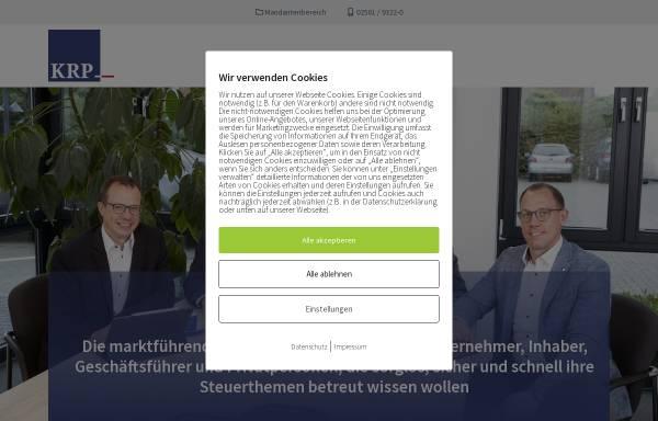 Vorschau von www.vermoegensantworten.de, KRP Klaus Ribbert und Partner Steuerberater - Wirtschaftsprüfer - Rechtsanwalt Partnerschaftsgesellschaft