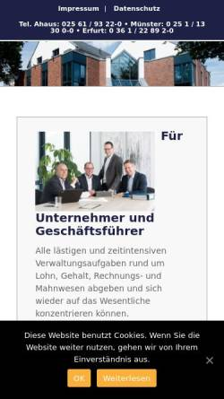 Vorschau der mobilen Webseite www.vermoegensantworten.de, KRP Klaus Ribbert und Partner Steuerberater - Wirtschaftsprüfer - Rechtsanwalt Partnerschaftsgesellschaft