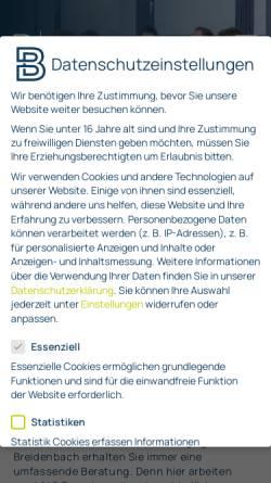 Vorschau der mobilen Webseite rsm-breidenbach.de, RSM Breidenbach und Partner PartG mbB