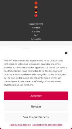 Vorschau der mobilen Webseite www.hans-associes.fr, HANS & Associés