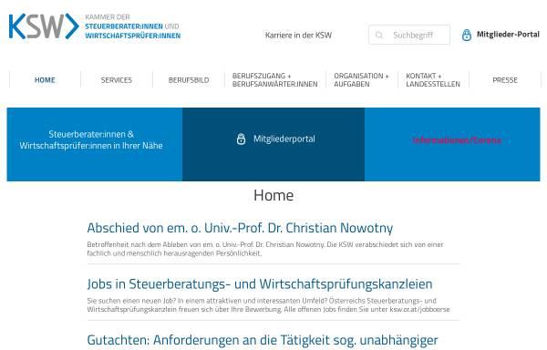 Vorschau von www.kwt.or.at, Kammer der Wirtschaftstreuhänder