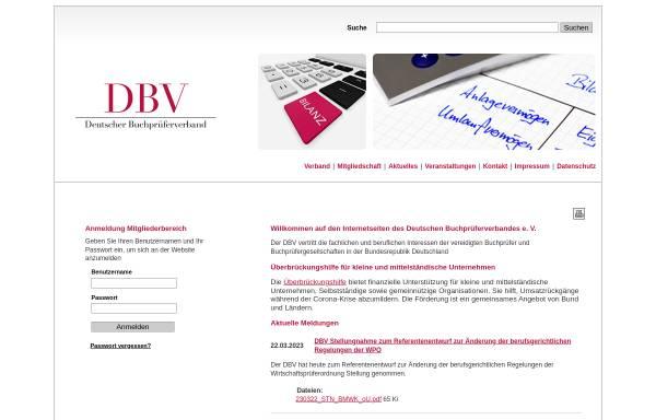 Vorschau von www.dbvev.de, Deutscher Buchprüferverband e.V.