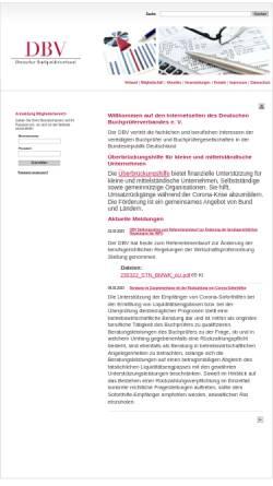 Vorschau der mobilen Webseite www.dbvev.de, Deutscher Buchprüferverband e.V.