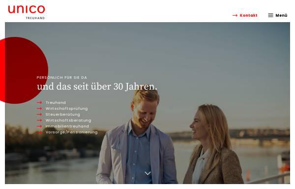 Vorschau von www.unico.ch, Unico Treuhand AG