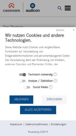 Vorschau der mobilen Webseite audicon.net, Audicon GmbH