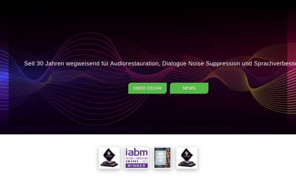Vorschau von www.cedaraudio.de, CEDAR Deutschland Audio Restaurationsysteme