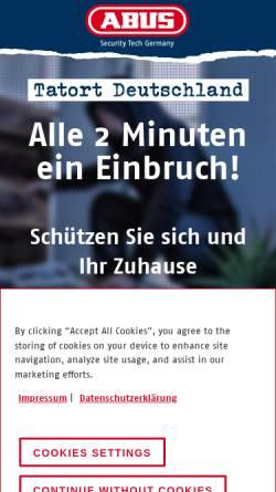 Vorschau der mobilen Webseite sicher-mit-abus.com, ABUS, August Bremicker Söhne KG