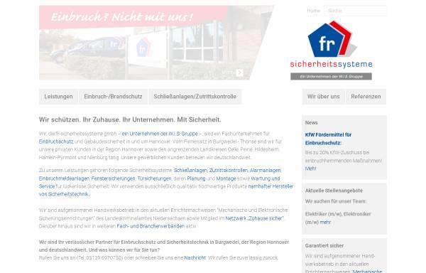Vorschau von www.fr-sicherheitssysteme.de, FR Sicherheitssysteme GmbH