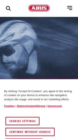 Vorschau der mobilen Webseite www.abus-sc.de, ABUS Security-Center GmbH & Co. KG